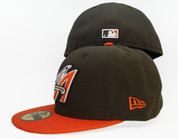 Anaheim Angels New Era 59Fifty Fitted Hat -  Brown, Orange, White