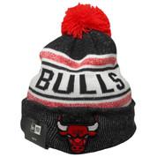 Chicago Bulls KIDS New Era Toasty Cover Knit Hat - White, Black, Red