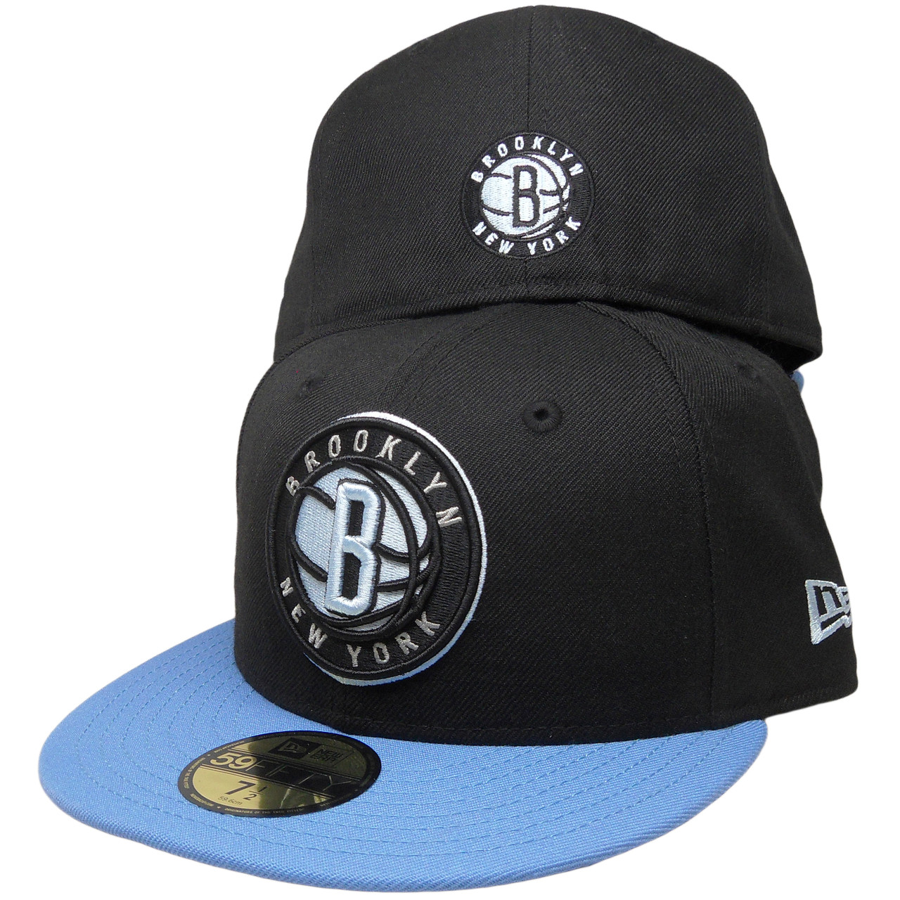 08e130657e76f Brooklyn Nets New Era Custom 59Fifty Fitted hat - Black