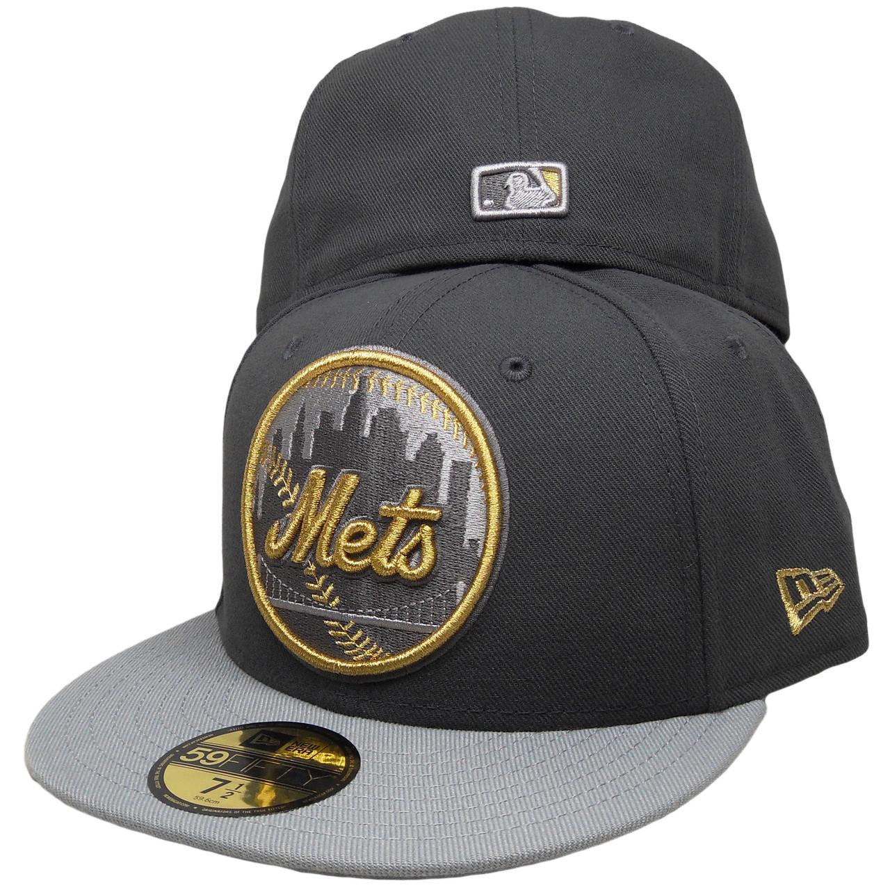 New York Mets Custom New Era 59Fifty Fitted - Dark Gray 3ba03757fa6d