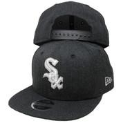 Chicago White Sox New Era KIDS Heather Hype 9Fifty Snapback - Graphite, White, Gray