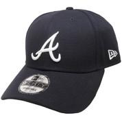 Atlanta Braves New Era The League 9Forty Adjustable - Navy, White