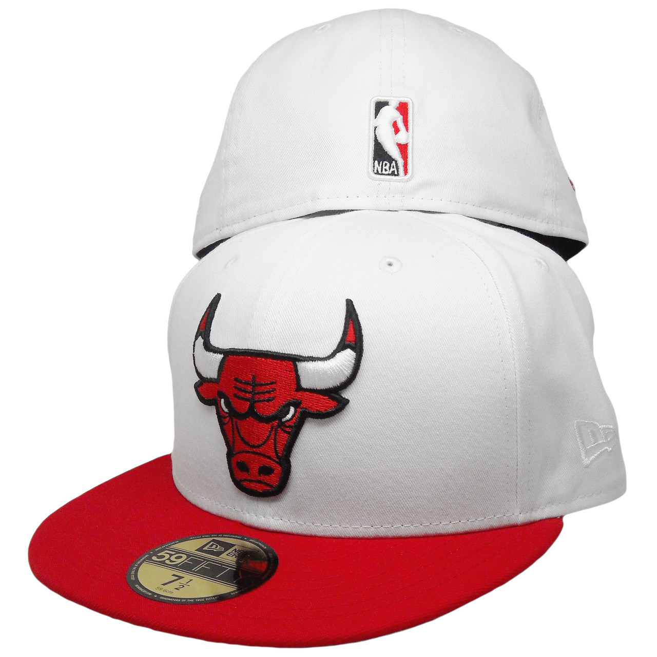 6357a2b806c Chicago Bulls Championship Patch New Era Custom 59Fifty Fitted - White
