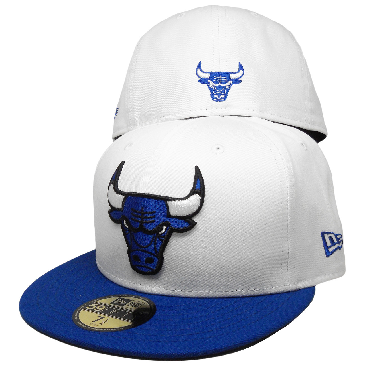 Chicago Bulls New Era Custom 59Fifty Fitted Hat - White 67644051727