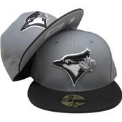 c56e826d133 Toronto Blue Jays New Era Gray Bottom Fitted Hat - Graphite Gray ...