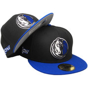 Dallas Mavericks New Era Custom 59Fifty Fitted Hat - Black, Royal, White