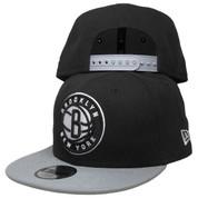 Brooklyn Nets New Era Basic 2Tone Kids 9Fifty Snapback - Black, Gray, White