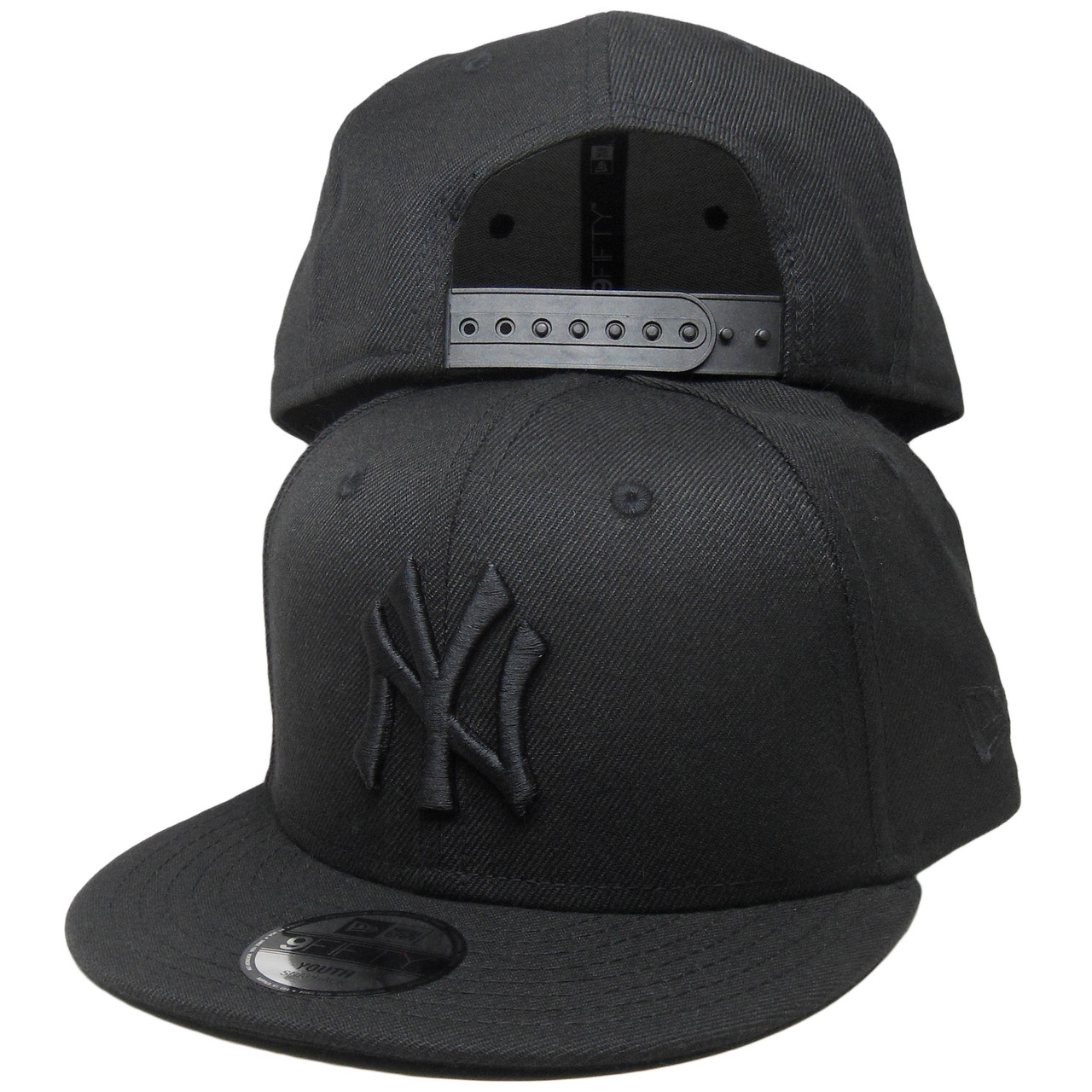 92b6764cb8e New York Yankees New Era Custom KIDS 9Fifty Snapback - Black Tonal ...