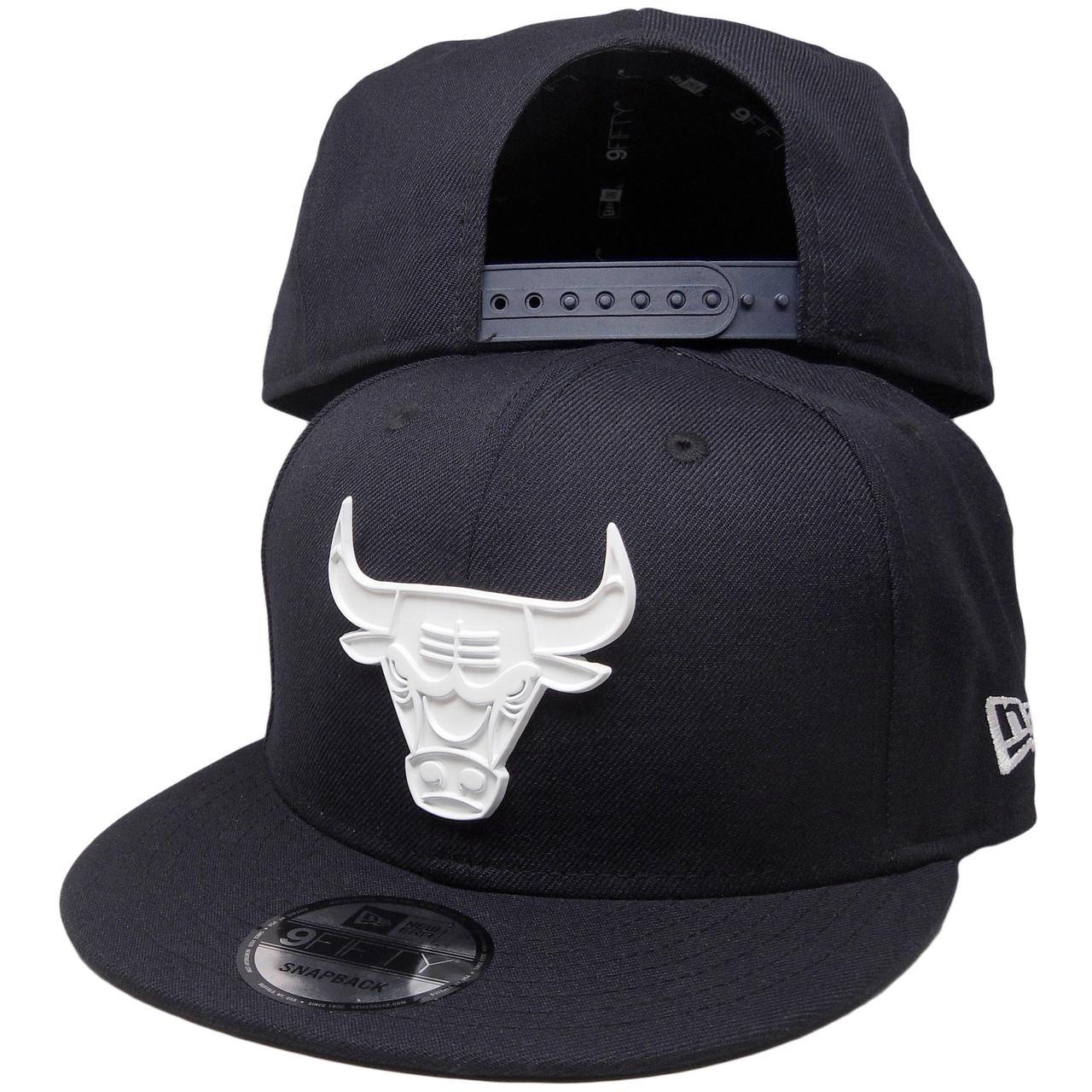 7b24161c63556 Chicago Bulls New Era Custom 9Fifty Snapback Hat - Navy