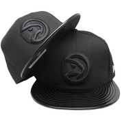 Atlanta Hawks New Era Custom 59Fifty Fitted - Black, Black Patent Leather, White