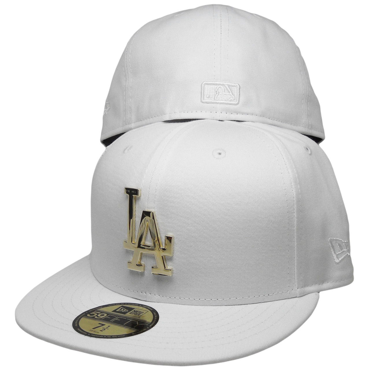 56d45bcd16978 Los Angeles Dodgers New Era Custom 59Fifty Fitted - White