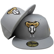 Arizona Diamondbacks New Era Custom 59Fifty Fitted - Gray, Gold, Black, White