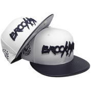 Brooklyn New Era Custom 59Fifty Fitted Hat - White, Navy Leather, Navy