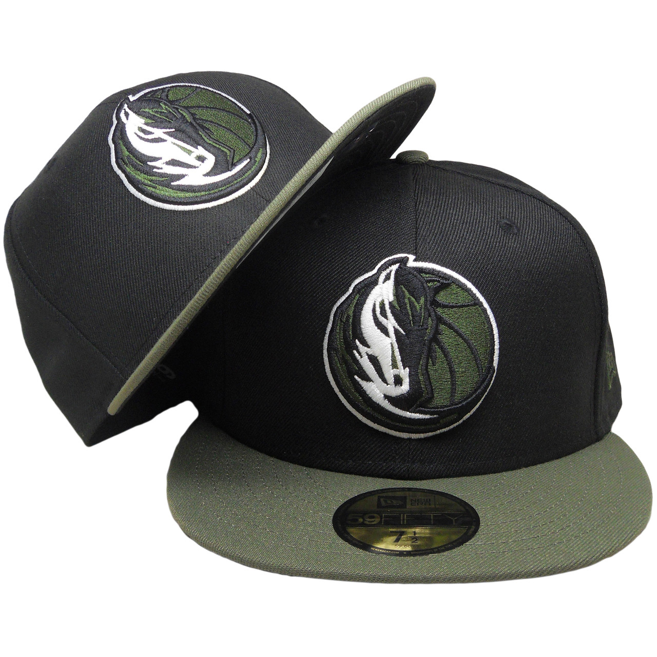meet 1ef3e 93a93 ... purchase dallas mavericks new era custom 59fifty fitted hat black olive  green whit. larger more