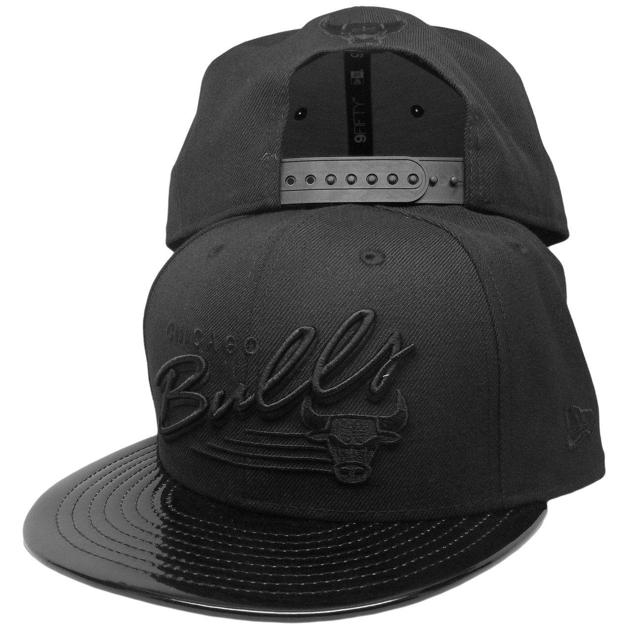 Chicago Bulls New Era Custom 9Fifty Snapback Hat - Black 3481bd65761