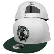 Boston Celtics New Era Custom 9Fifty Snapback Hat - White, Dark Green, Black