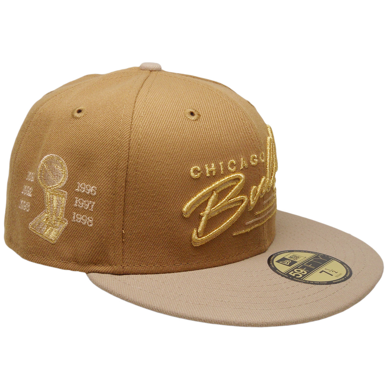 5a55744feee Chicago Bulls New Era Custom 59Fifty Fitted Hat - Wheat