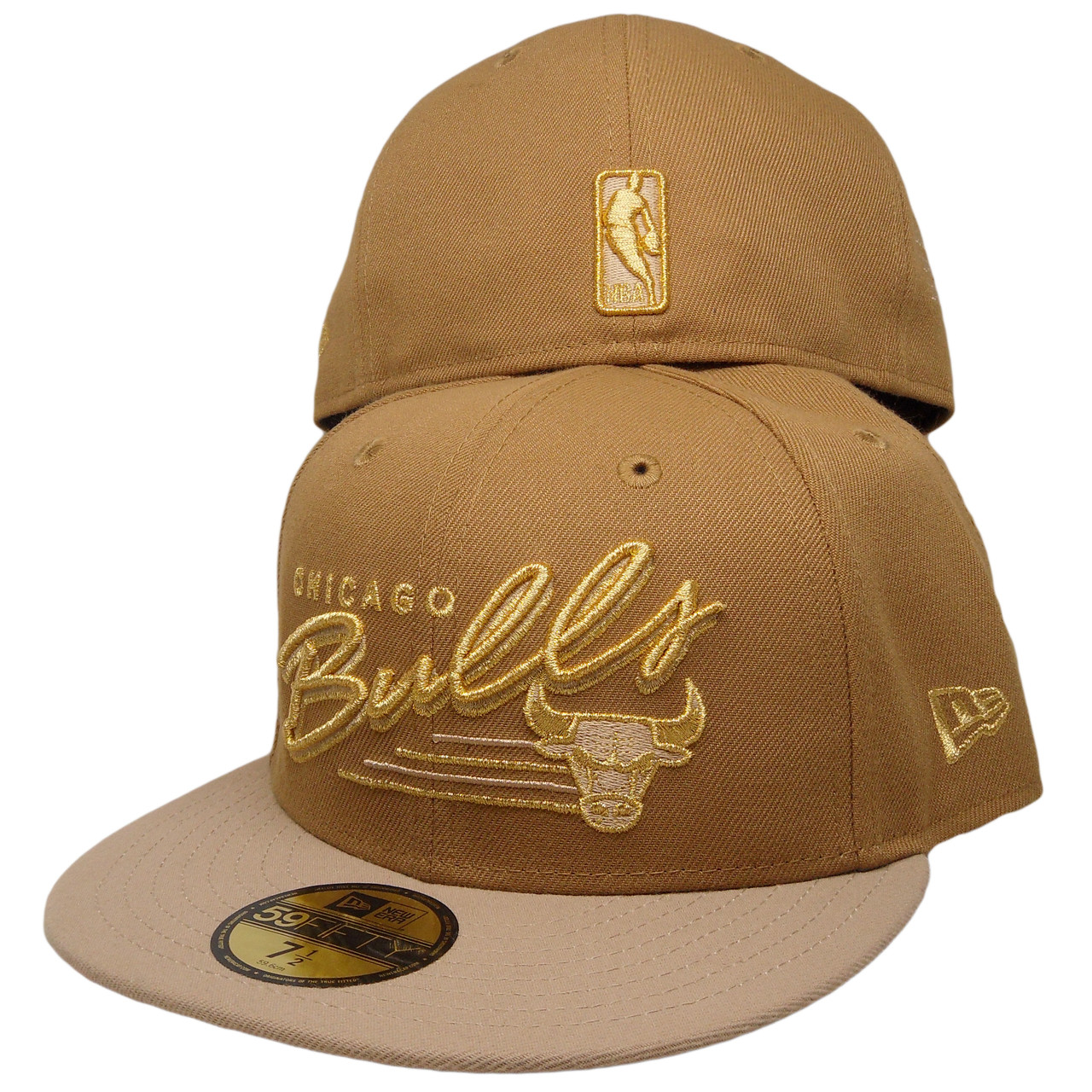 e99c2bf0910 Chicago Bulls New Era Custom 59Fifty Fitted Hat - Wheat