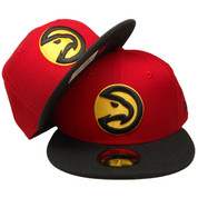 Atlanta Hawks New Era Custom 59Fifty Fitted Hat - Red, Black, Yellow