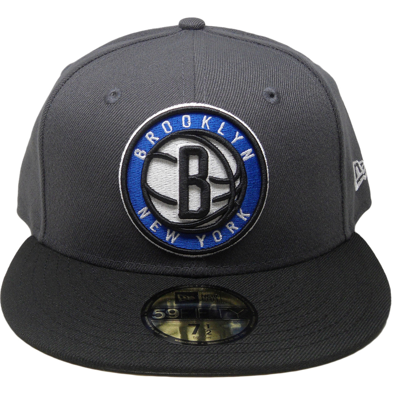 Brooklyn Nets New Era Custom 59Fifty Fitted Hat - Graphite 75afaf8dedf
