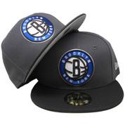 Brooklyn Nets New Era Custom 59Fifty Fitted Hat - Graphite, Black, Royal Blue