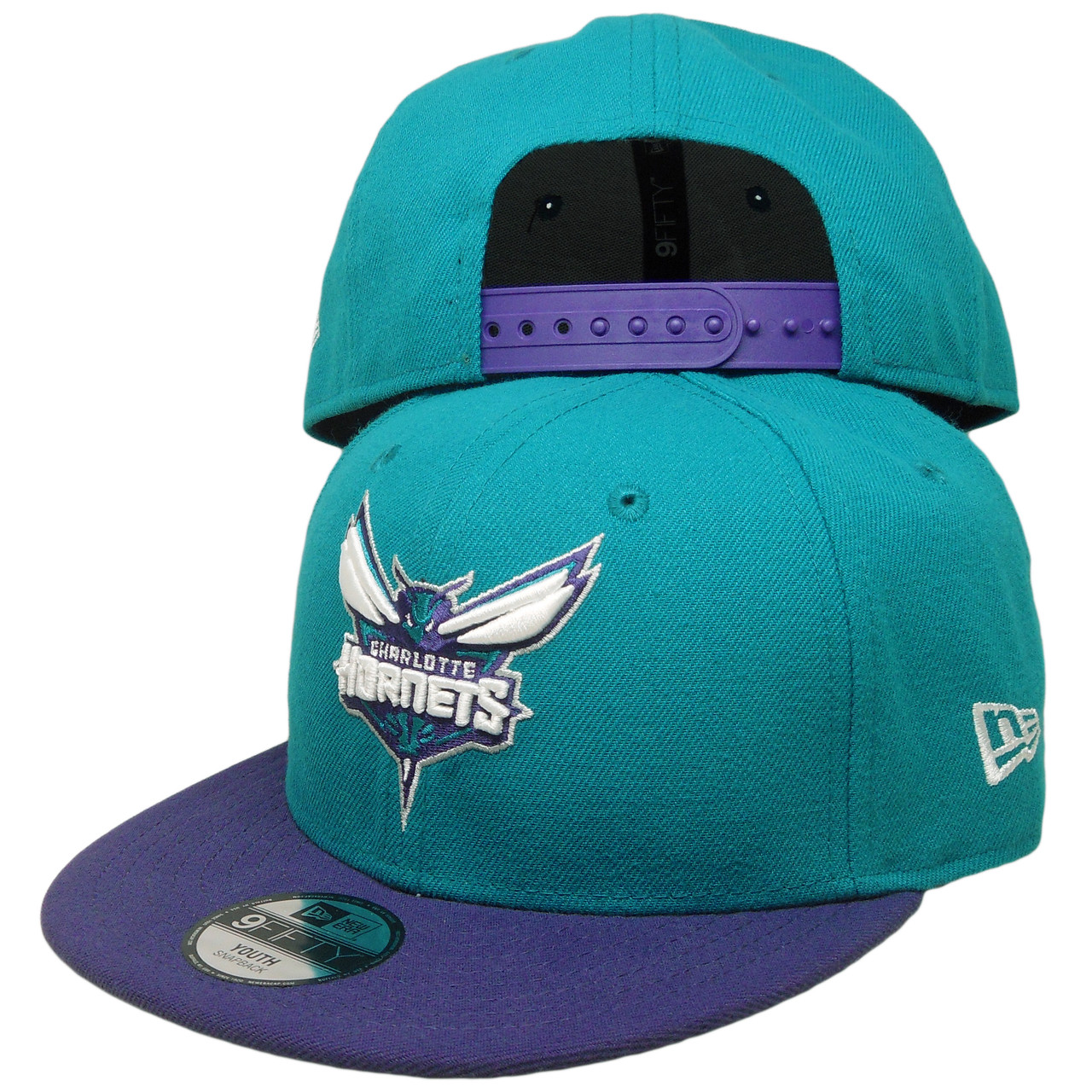 Charlotte Hornets New Era KIDS 2Tone 9Fifty Snapback Hat - Teal ... 7b69b5fa24b