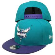 Charlotte Hornets New Era KIDS 2Tone 9Fifty Snapback Hat - Teal, Purple, White