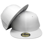 Plain Blank New Era Custom-made 59Fifty Fitted Hat - All White