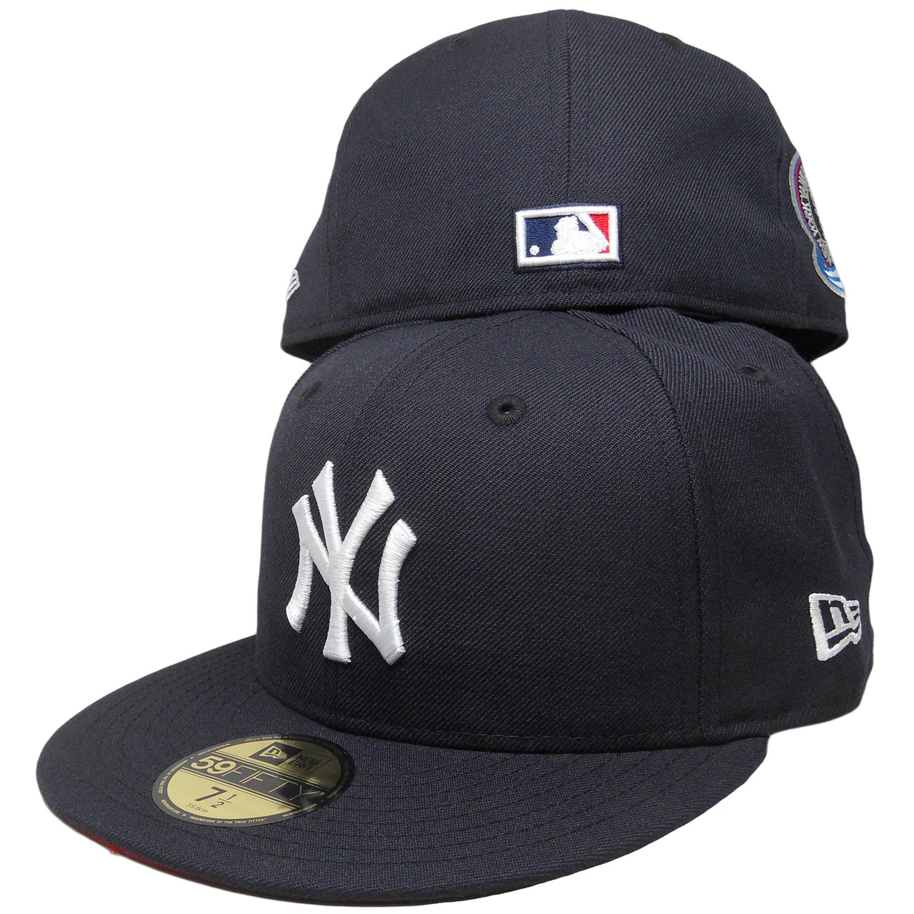 buy online 84aae 40512 New York Yankees New Era Custom Subway Series Patch Fitted - Navy, White,  Red - ECapsUnlimited.com