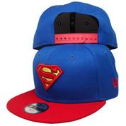 DC Comics Superman New Era Custom Kids 9Fifty Snapback - Royal, Red, Yellow