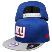 New York Giants New Era KIDS Baycik 9Fifty Snapback - Royal, Gray, White, Red