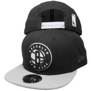 Brooklyn Nets New Era 2Tone Basic 9Fifty OF Snapback Hat - Black, Gray, White