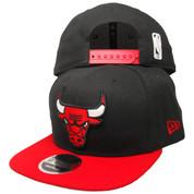 Chicago Bulls New Era 2Tone Basic 9Fifty OF Snapback Hat - Black, Red, White