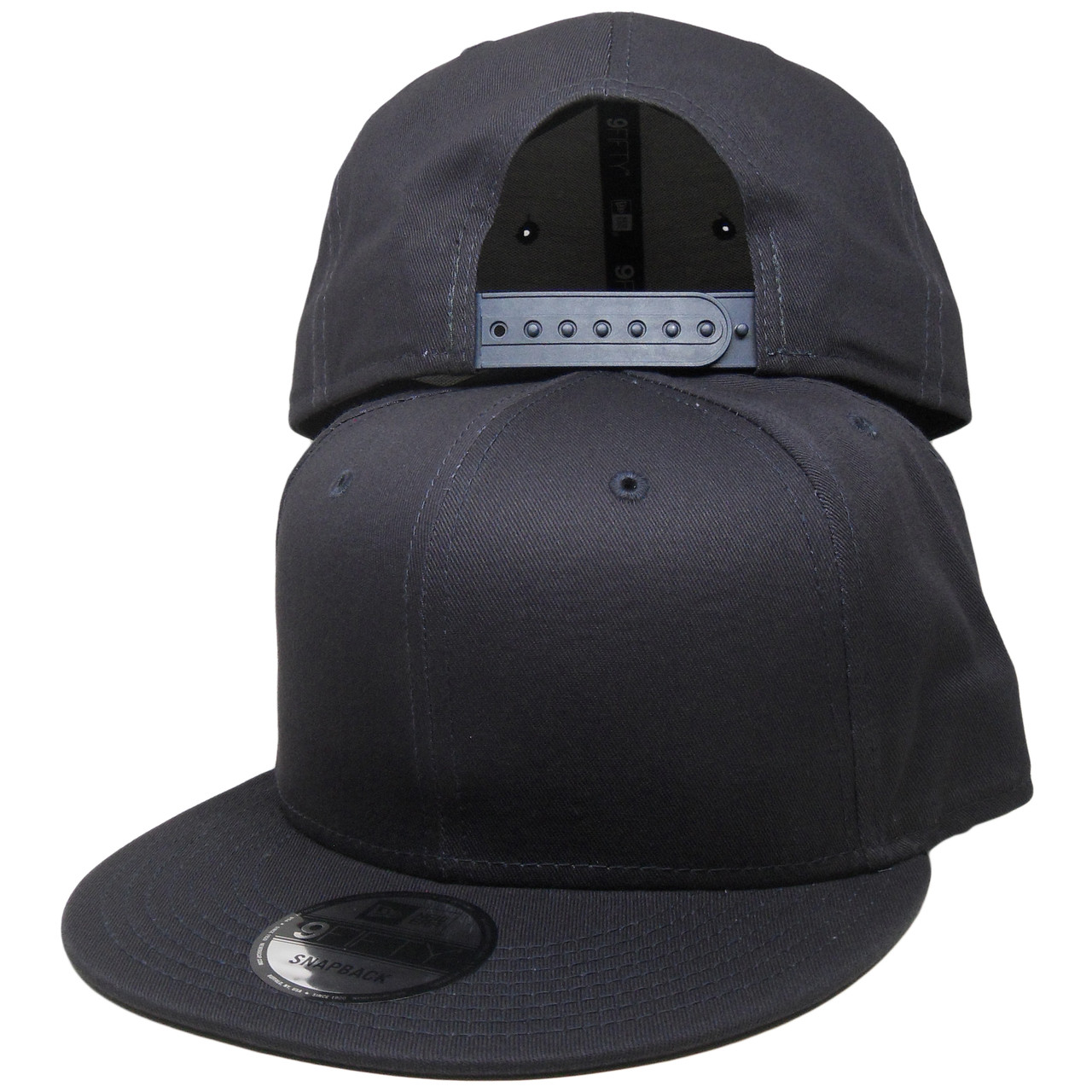 Plain Blank New Era 9Fifty Snapback Hat - All Navy Blue - ECapsUnlimited.com acf4d697f27