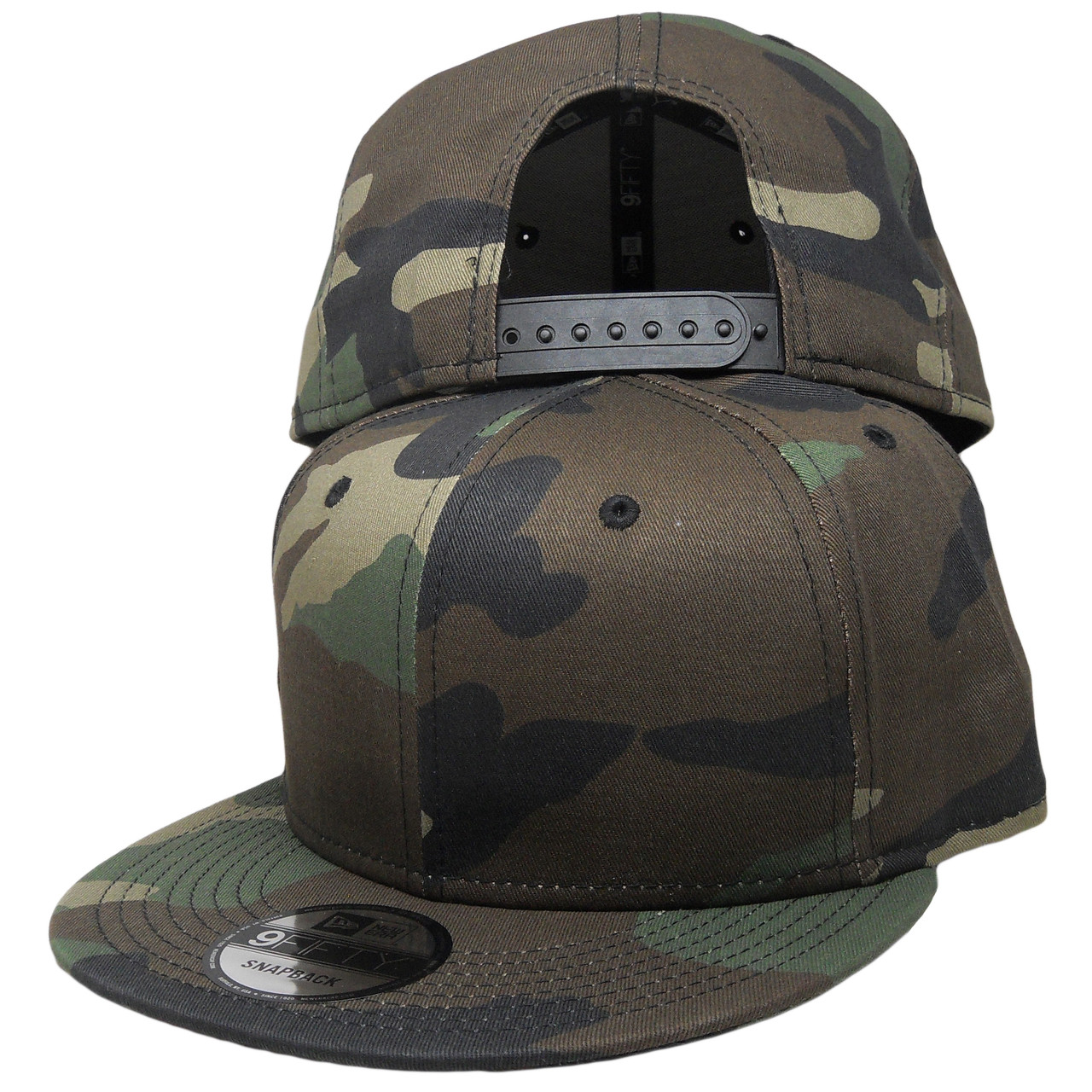78132fe6de0 Plain Blank New Era 9Fifty Snapback Hat - All Camouflage -  ECapsUnlimited.com