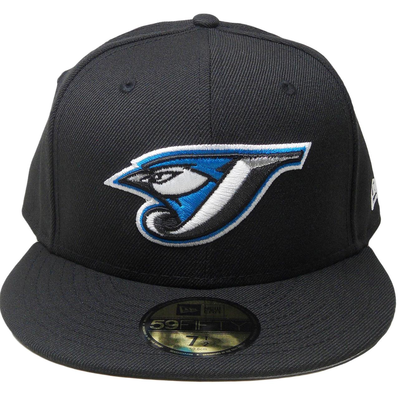 3d365f0bbf5 Toronto Blue Jays Custom New Era Gray Bottom Fitted - Black