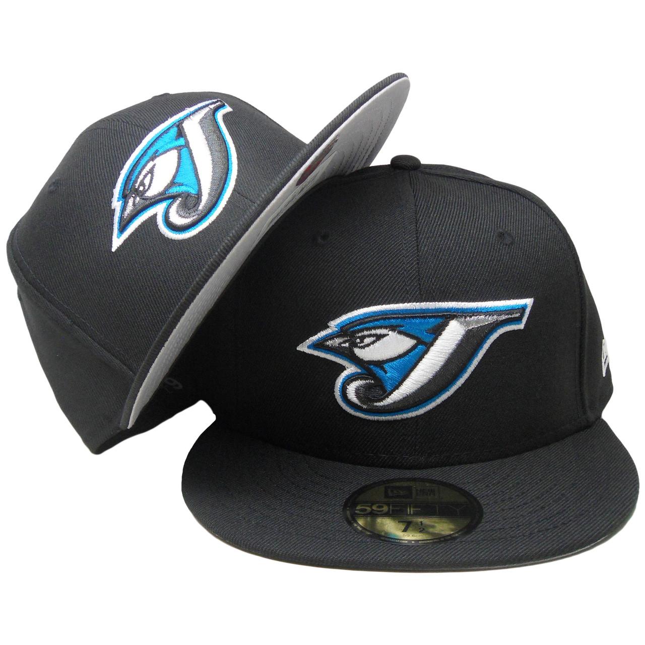 ffd690521dd Toronto Blue Jays Custom New Era Gray Bottom Fitted - Black