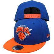 New York Knicks New Era 9Fifty KIDS Snapback Hat - Royal, Orange, White