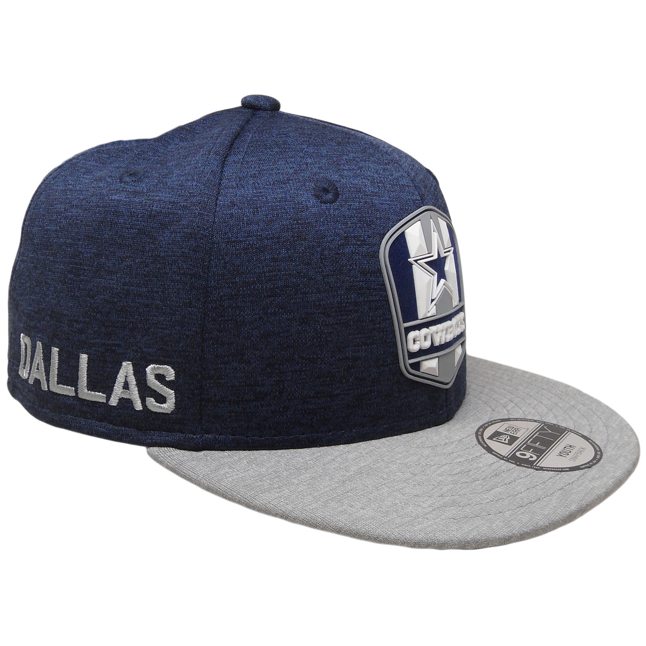 best cheap 840bf faf5d Dallas Cowboys New Era 2018 Onfield 9Fifty KIDS Snapback - Navy, Gray,  White - ECapsUnlimited.com