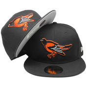 Baltimore Orioles New Era Cooperstown Series 59Fifty Fitted Hat - Black, Orange, White