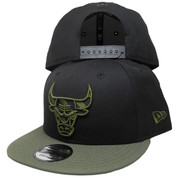 Chicago Bulls New Era Custom 9Fifty Snapback Hat - Black, Olive