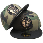 Brooklyn Nets New Era Custom 59Fifty Fitted - Woodland Camo, Black