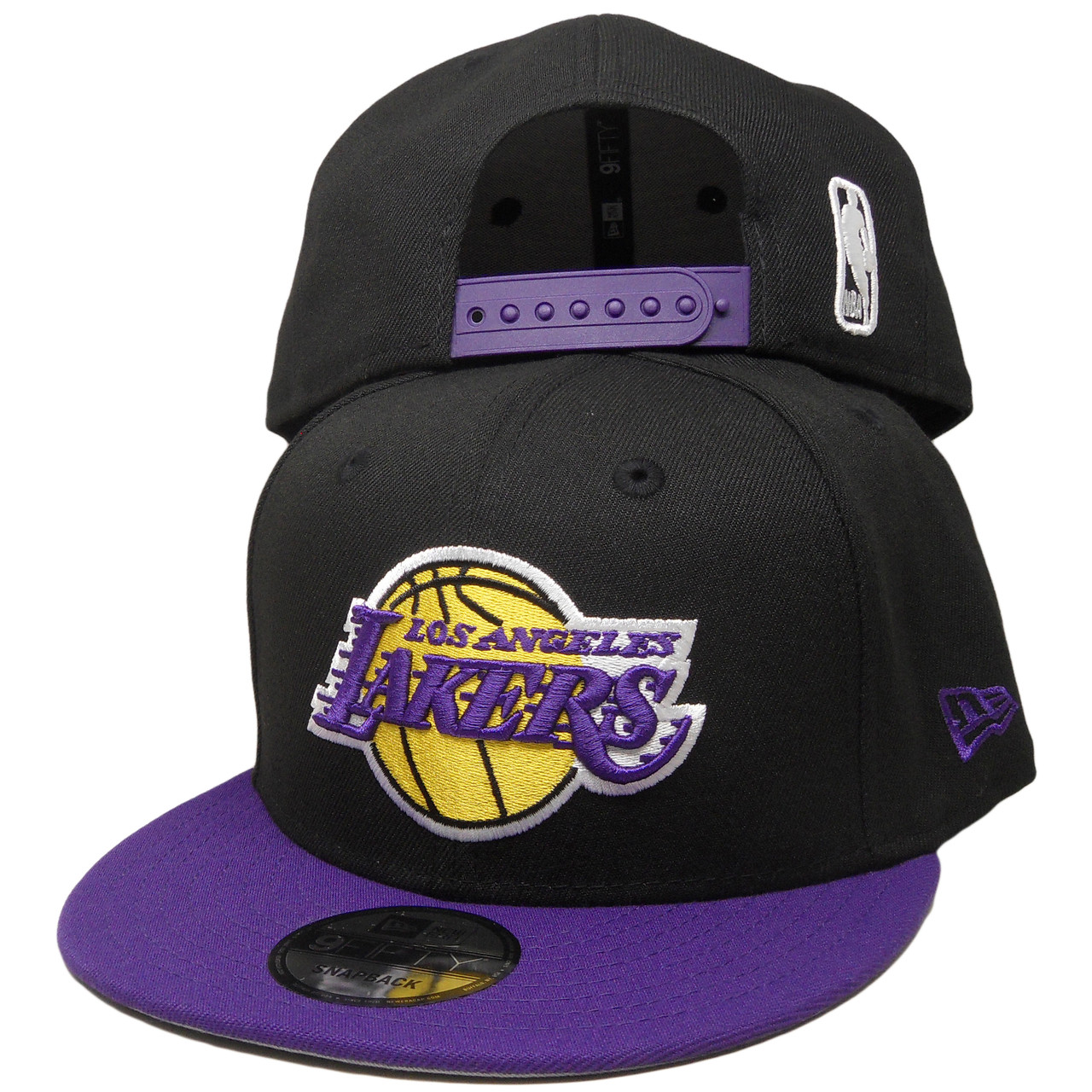 1a2a6d25ee1 Los Angeles Lakers New Era 9Fifty 2Tone 9Fifty Snapback - Black ...