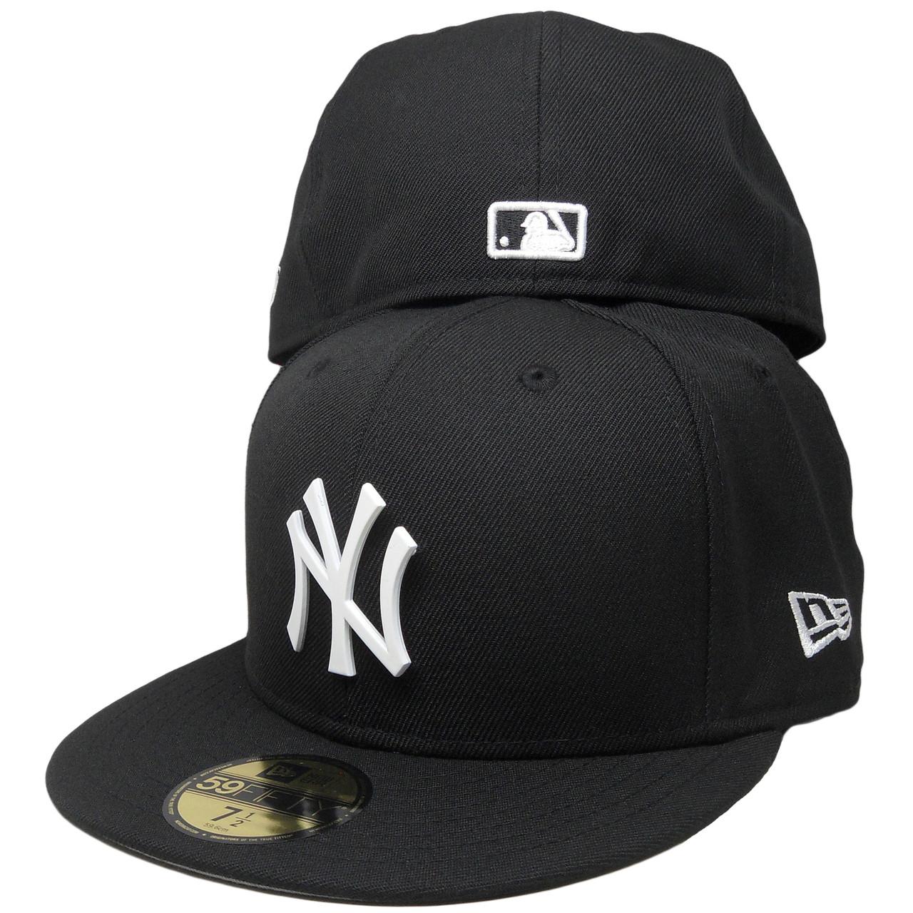 1ba92872253 New York Yankees Metal Badge Logo New Era Custom 59Fifty Fitted - Black