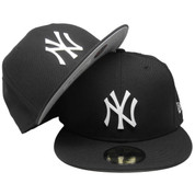 New York Yankees Metal Badge Logo New Era Custom 59Fifty Fitted - Black, White