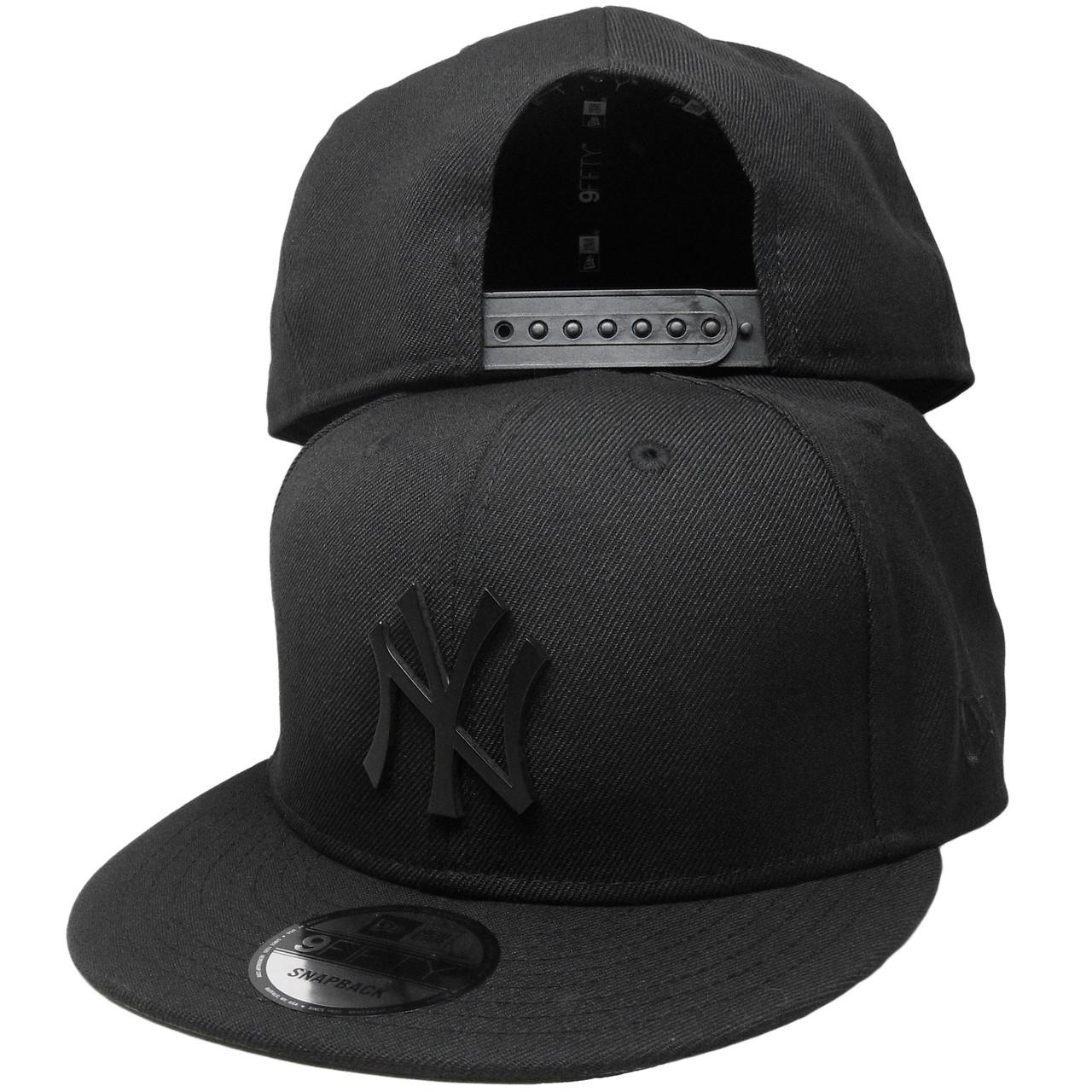 f74ea2e8228 New York Yankees New Era Metal Badge Custom 9Fifty Snapback - Black ...