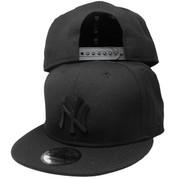 New York Yankees New Era Metal Badge Custom 9Fifty Snapback - Black, White