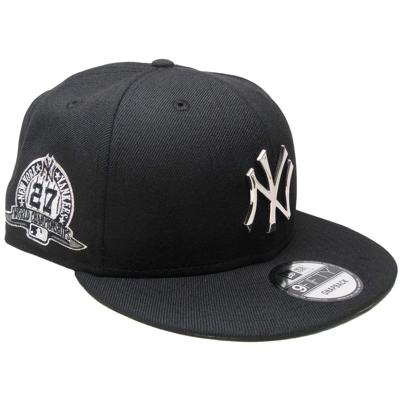 96500983959 New York Yankees New Era Metal Badge Custom 9Fifty Snapback - Black ...