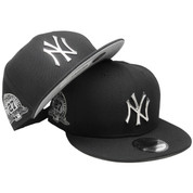 New York Yankees New Era Metal Badge Custom 9Fifty Snapback - Black, Silver