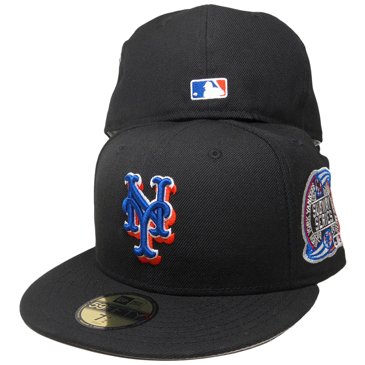 0b252adf180 New York Mets New Era Custom Subway Series 59Fifty Fitted - Black ...